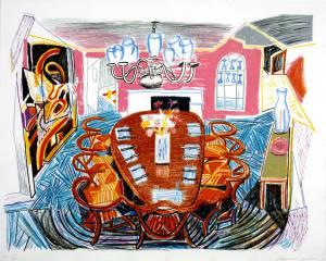 Tyler Dining Room 1984 by David Hockney born 1937
