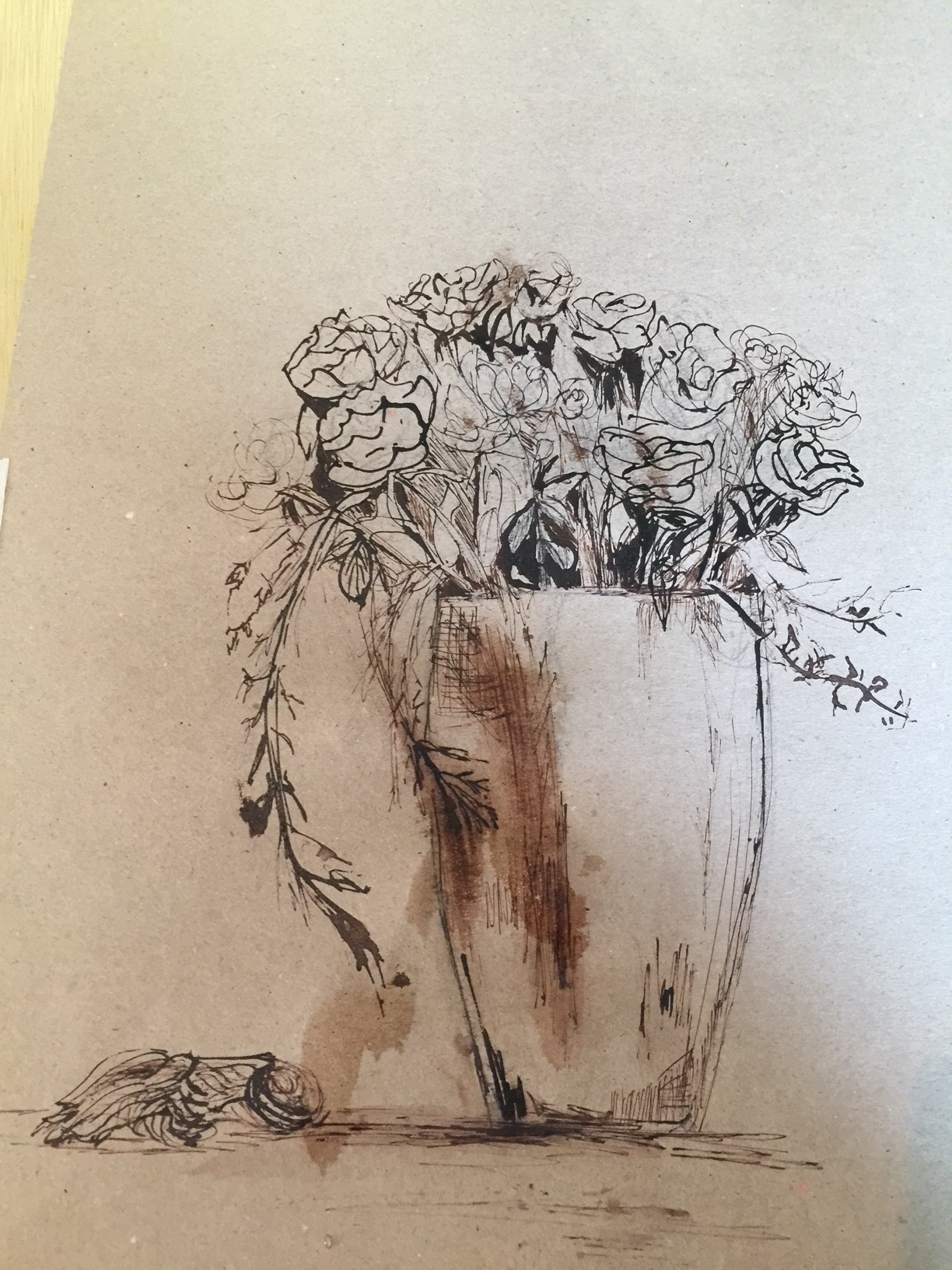 roses with ink 1