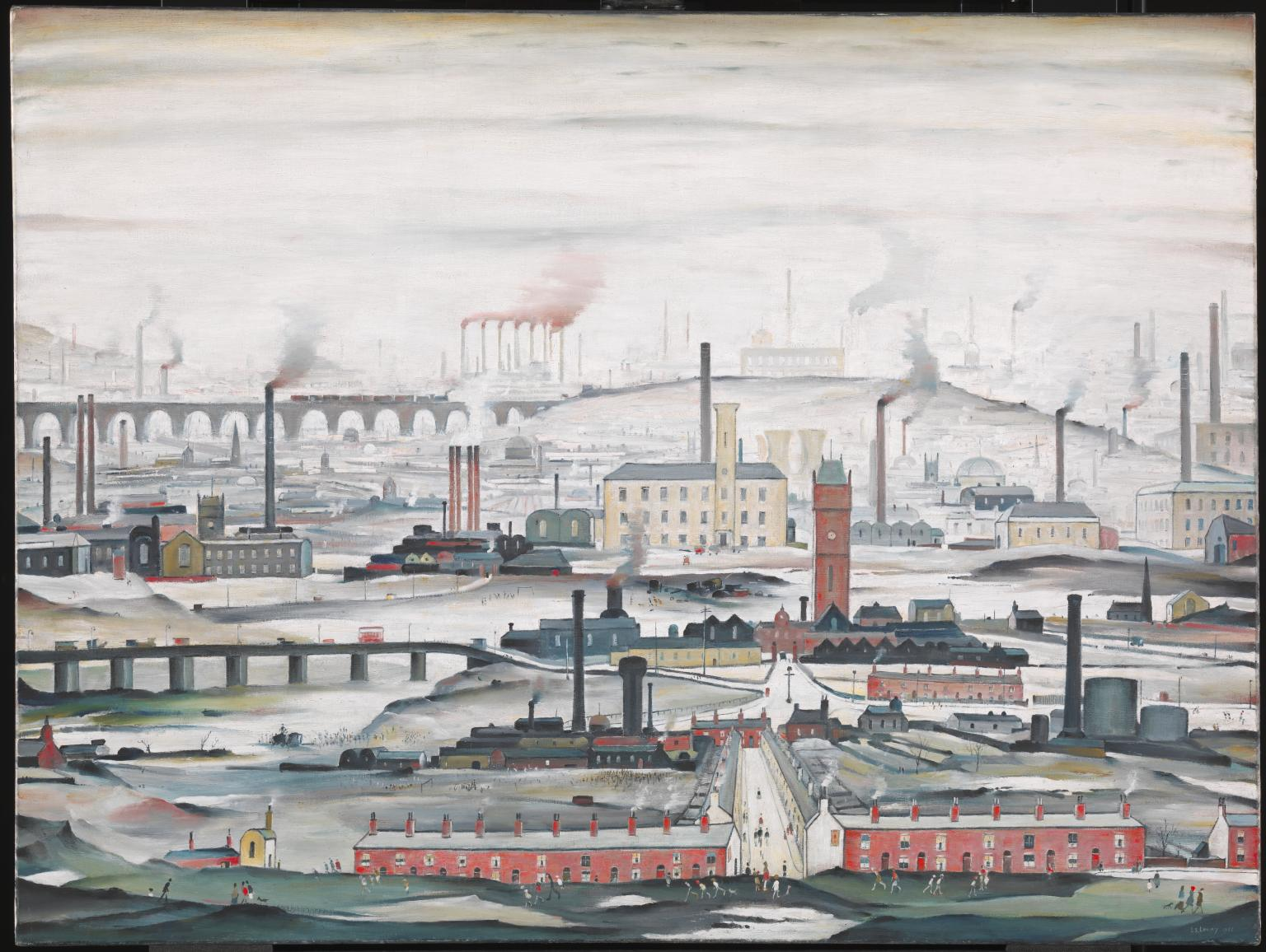 Industrial Landscape 1955 by L.S. Lowry 1887-1976