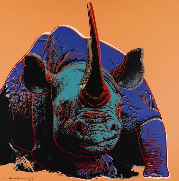 Rhinoceros print by Andy Warhol