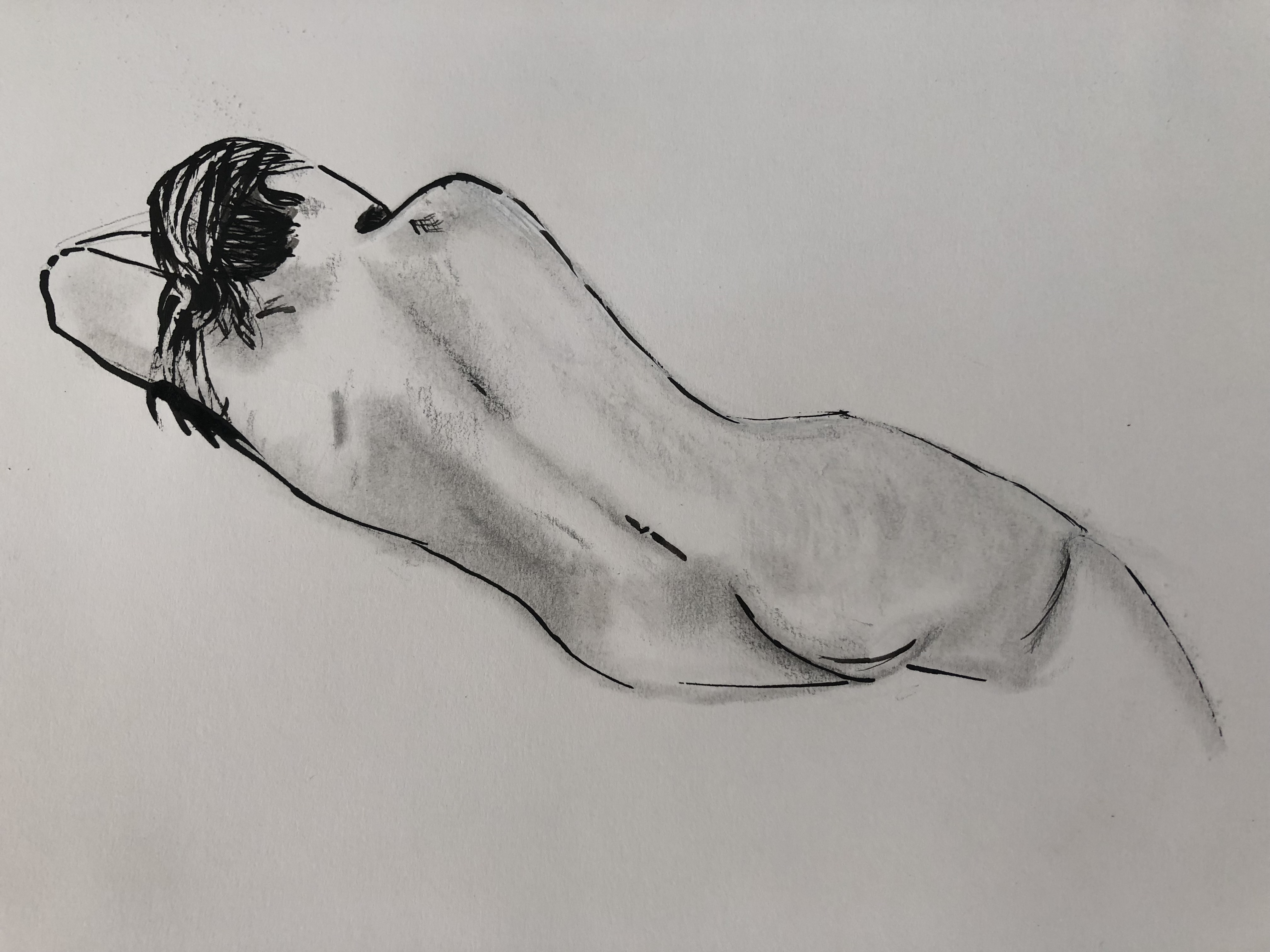 ink and pencil