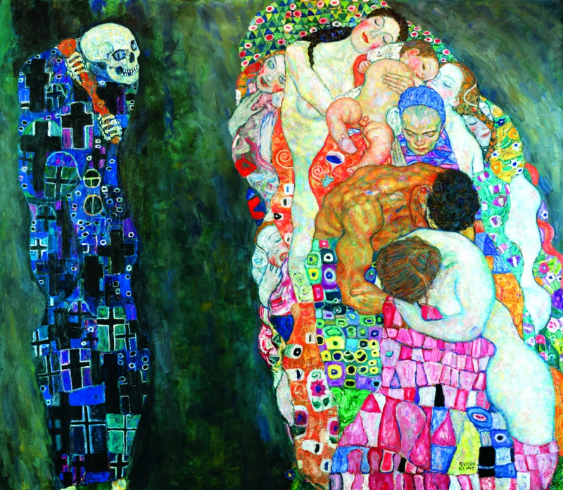 klimt life and death