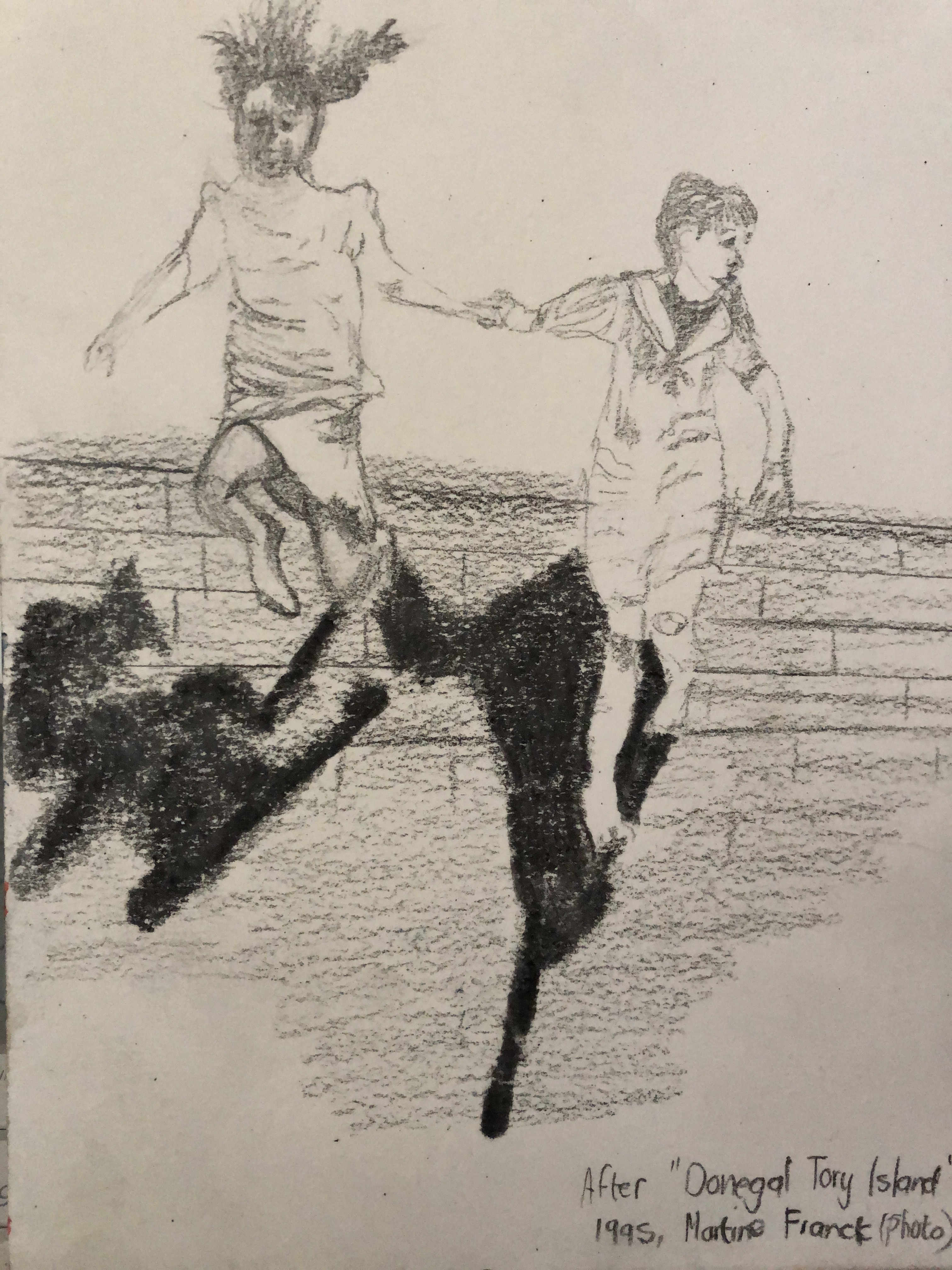 photo of movement of 2 girls jumping