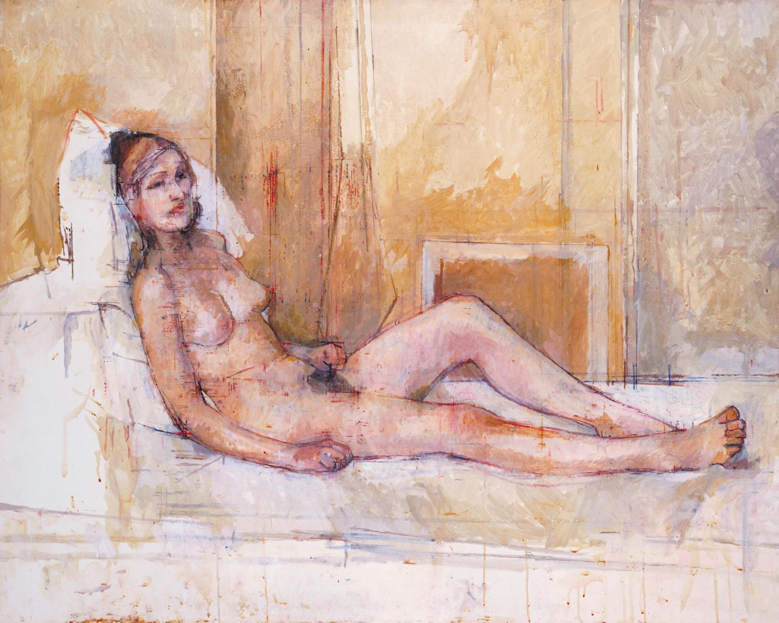 Reclining Nude 1974-6 by Sir William Coldstream 1908-1987