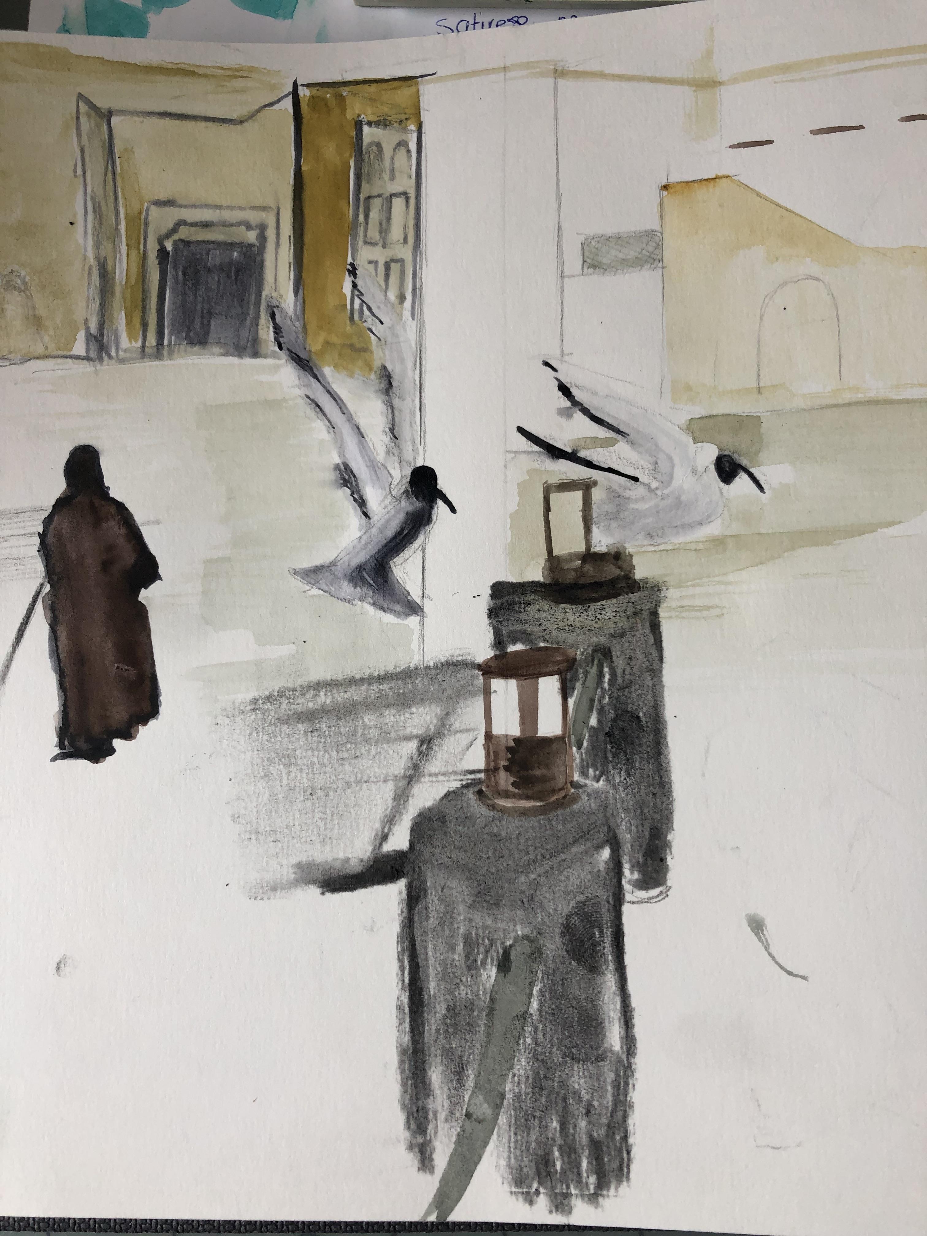Fahidi walk and woman in black