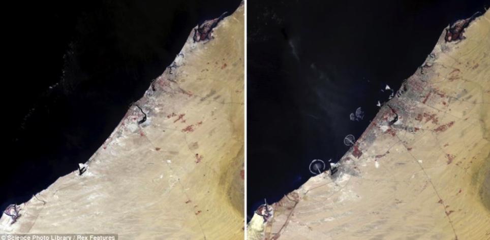satelite image of dubai
